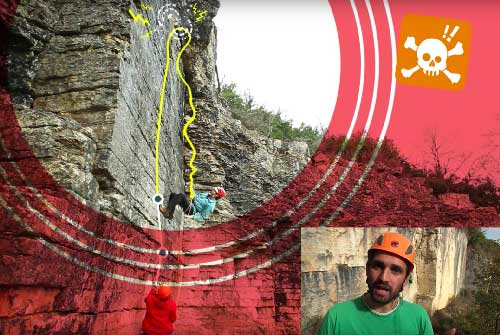 Escalade SPORT | Rebrousser chemin depuis un ancrage qui n'atteint pas le relais (rechappe)